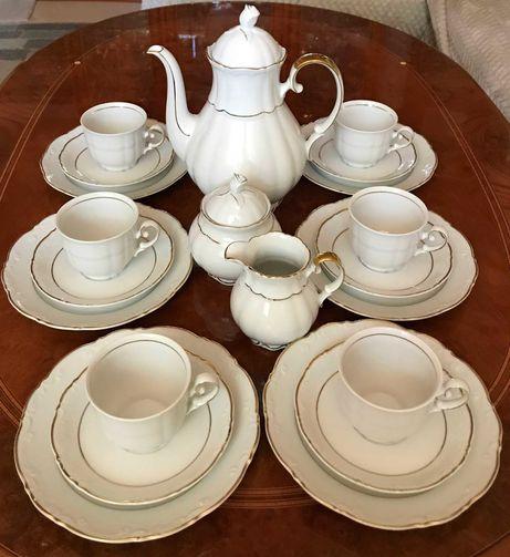 Mitterteich Bavaria serwis kawowy 6 osob, porcelana