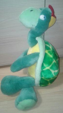 Maskotka śmieszny zielony żółw ninja w czapce pluszak nowy