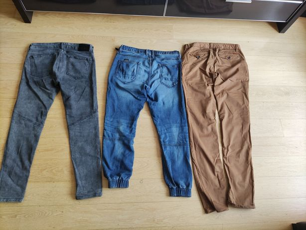 ZARA jeansy i materiałowe młodzieżowe