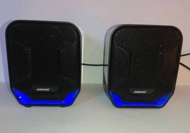 Głośniki komputerowe PC Audiocore - USB - 2x 3W - z podświetleniem