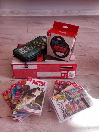Nintendo switch +9 gier MARIO