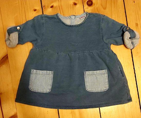 Zara sukienka 68cm jeans śliczna