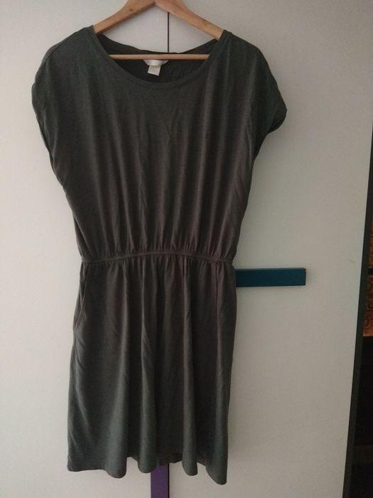Sukienka khaki HM Jaworzno - image 1