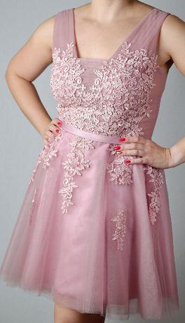 Sukienka 38 40 na wesele, sylwestra, karnawał, różowa