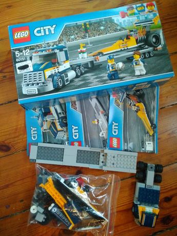 Lego City 60151 Klocki Transporter dragsterów