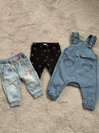 Spodnie H&M rozmiar 62 3 sztuki