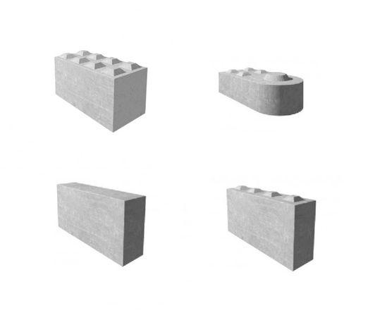 Blok betonowy , mury oporowe, boksy, przegrody, zasieki, bloki