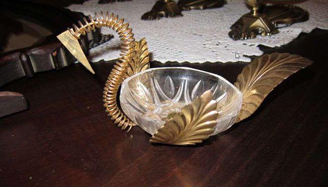 Ouro cisne em cristal banhado a ouro BAIXOU