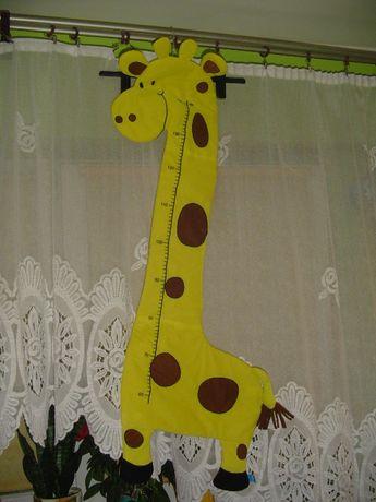 żyrafa miara wzrostu dla dzieci
