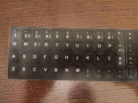 Etiquetas para meter o layout do teclado em português