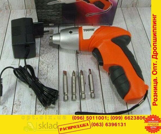 електроОтвертка шуруповерт електроВикрутка с фонариком аккумулярная