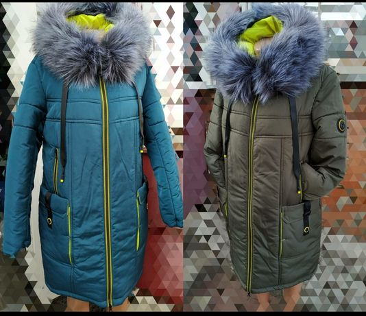 Зимняя куртка 48 50 52 54 56 58 полу пальто