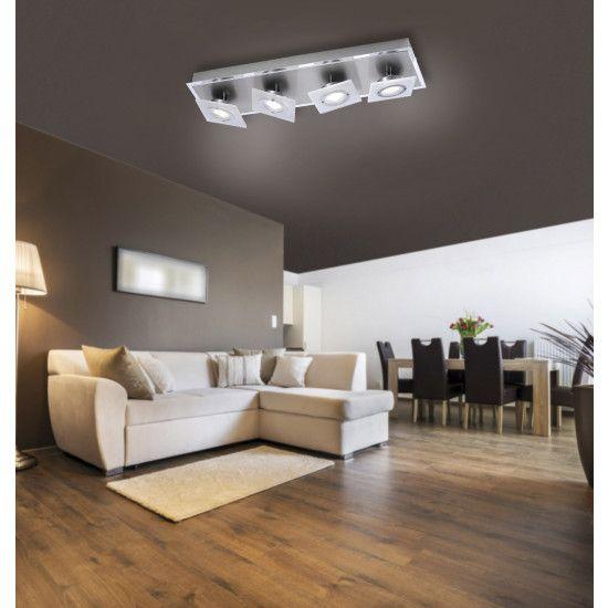Nowoczesna lampa ROTATOR LED Paul Neuhaus 8027-95 szkło chrom satyna Częstochowa - image 1