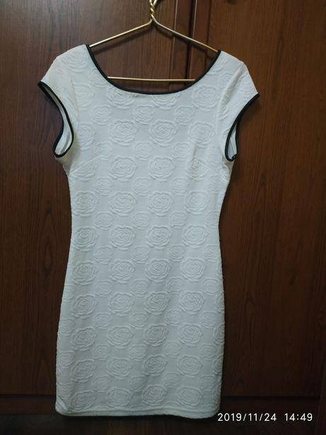 Продам елегантное белое платье.
