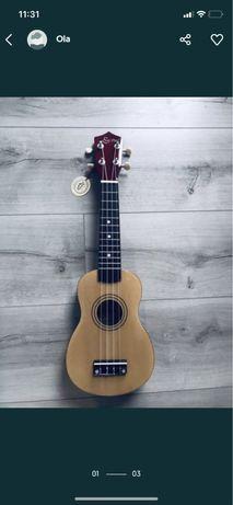 Nowe ukulele sopranowe. Kolor naturalny. Super na prezent