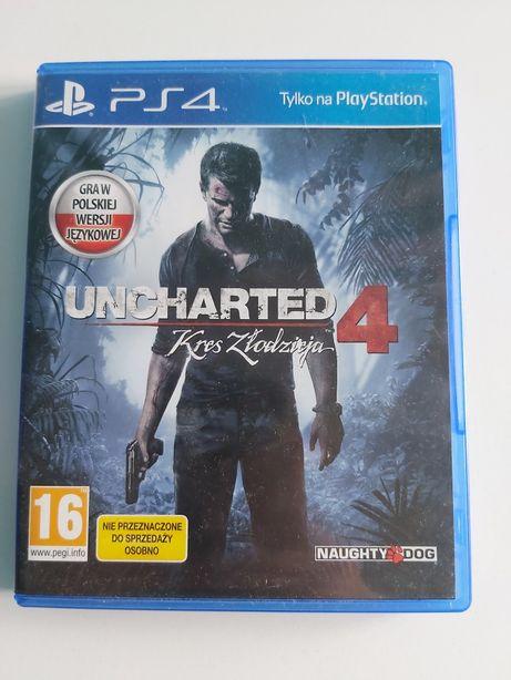 Gra na PlayStation 4 PS4 Uncharted 4 kres złodzieja idealny stan
