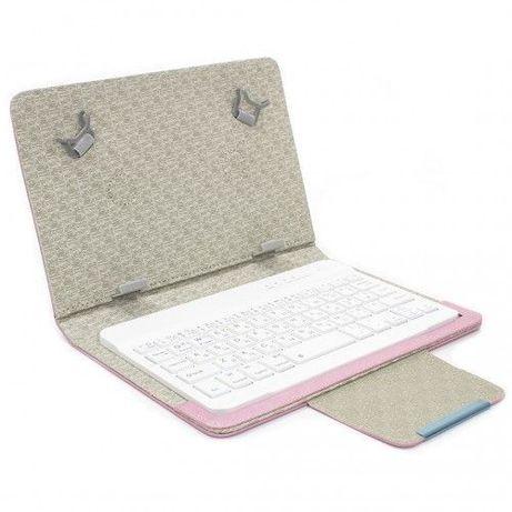 Bluetooth чехол клавиатура Lesko kayboard WL для планшета 7д Pink