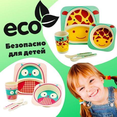 Бамбуковая Детская посуда Набор детской посуды из бамбук Есть Опт дроп