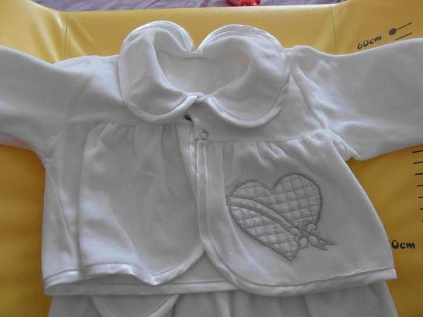 strój chrzest dziewczynka, pajac 62-68 cm 0-4 m