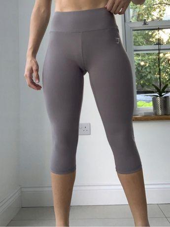 Gymshark legginsy krotkie 3/4 krótsze getry sportowe wysoki stan xs s