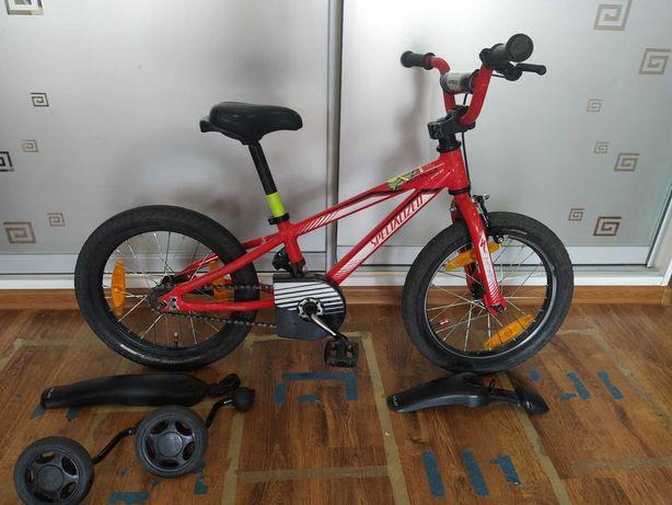 Велосипед детский Specialized hotrock 16 д., подарок самокат