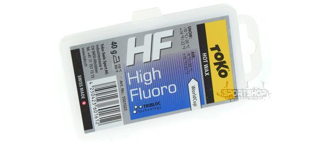 Smar zawodniczy HF na gorąco - niebieski 40g TOKO (High Performance)