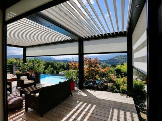 Najniższa cena automatycznej pergoli aluminiowej z dachem żaluzjowym.