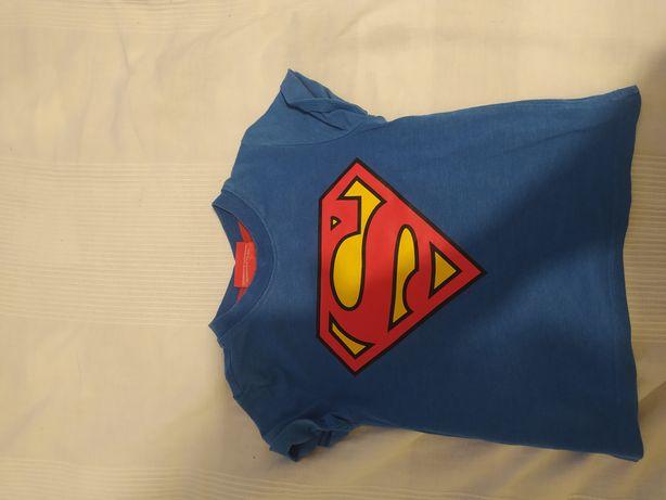 Koszulka z krótkim rękawem z pelerynką Superman,r.110