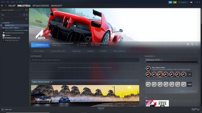 Assetto Corsa + Porsche Pack DLC * Symulator PC