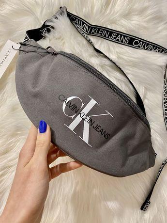 Saszetka nerka torba na ramię Calvin klein Streetpack grey szara