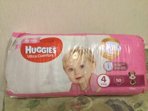 Подгузники детские Huggies Ultra comfort 4 (на 8-14 кг) 50шт Нов