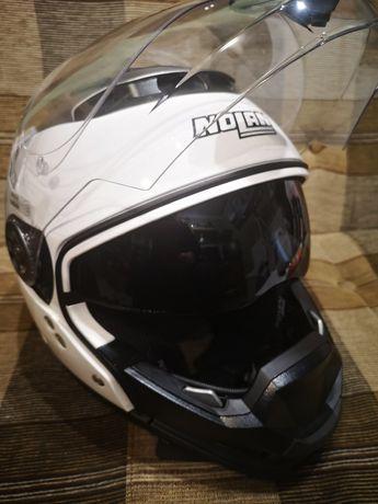 Kask motocyklowy Nolan N44 biały rozm. M - stan bardzo dobry, pinlock