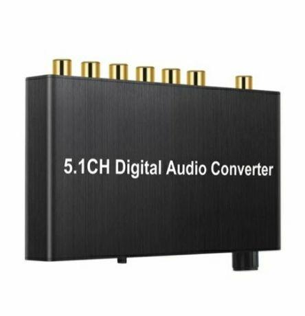 Конвертер декодер звуку з цифрового ЦАП optical Toslink S/PDIF оптично
