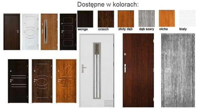 Drzwi ZEWNĘTRZNE -wewnętrzne WEJŚCIOWE drewniane i metalowe z MONTAŻEM