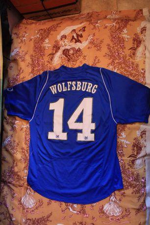 Koszulka Wolfsburg klubowa retro Niebieska