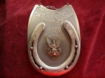 Ryngraf 1920 do szabel Brygada Jazdy Ochotniczej mjr. Jaworskiego