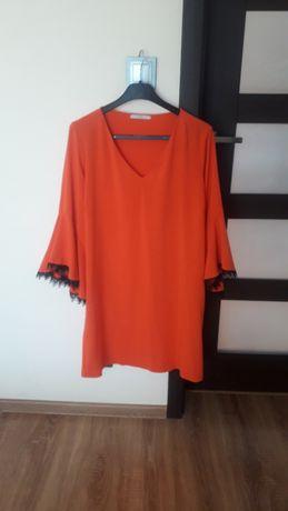 pomarańczowa sukienka 46-48