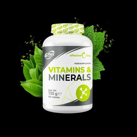 6PAK Nutrition Vitamins and Minerals