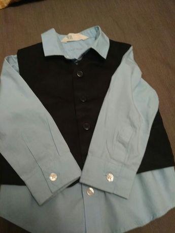 комплект Рубашка hm, жилетка.