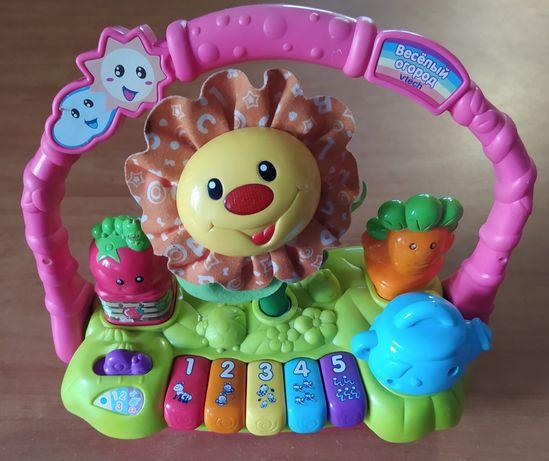 Обучающая игрушка-пианино VTECH Весёлый огород на русском языке