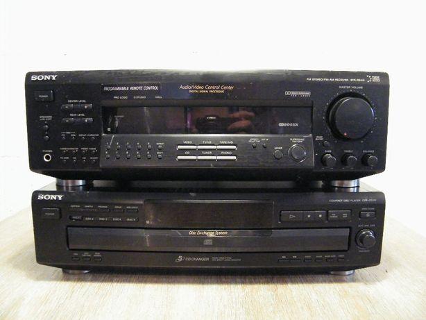 Zestaw Sony Amplituner STR-DE415 i Odtwarzacz CD CDP-CE315