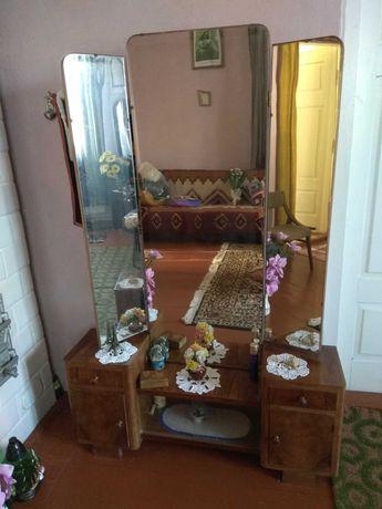Toaletka komoda garderoba szafka z lustrem Art deco PRL