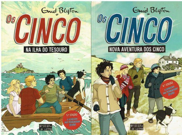 """2565 - Enid Blyton - Colecção """"Os Cinco"""" da Oficina do Livro."""