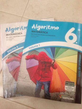 Manuais escolares - Algoritmo 6 ano. Professor