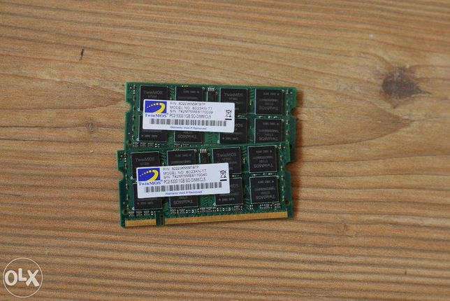 Оперативная память PC2-5300 2х1Gb