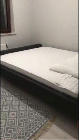 Rama łóżka KONGSBERG 160x200 + materac Wellpur Gold + 2x stelaż