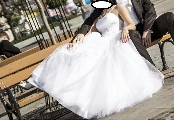 Suknia ślubna 34/36 biała princessa księżniczka + gratisy