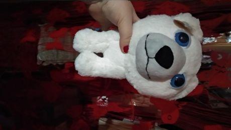 игрушка белый медведь глазастик фирменный мишка крутой фирменный