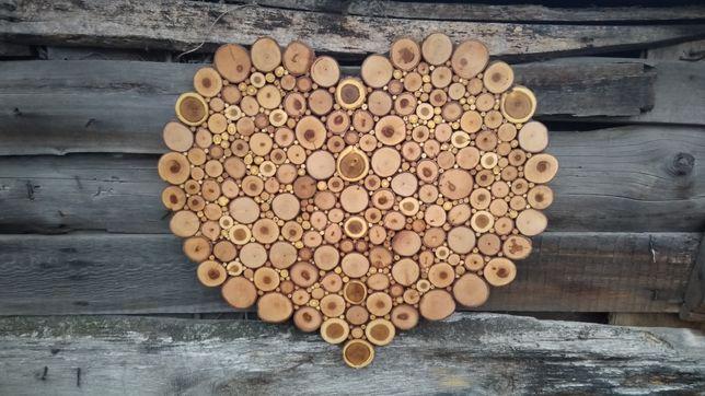 Декоративное сердце из спилов