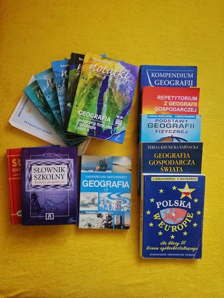 podręczniki, książki do geografii, vademecum maturzysty, słownik